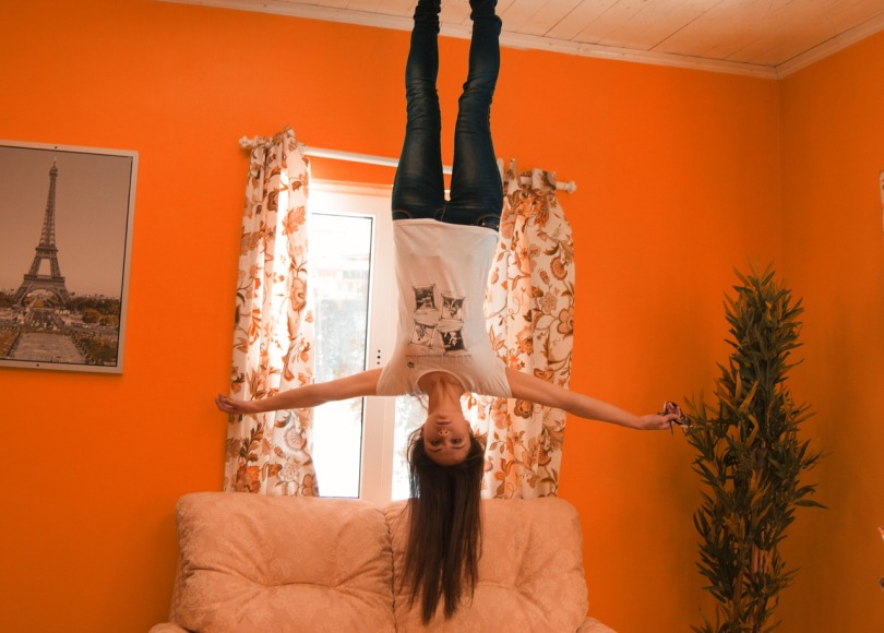 girl floating from ceiling